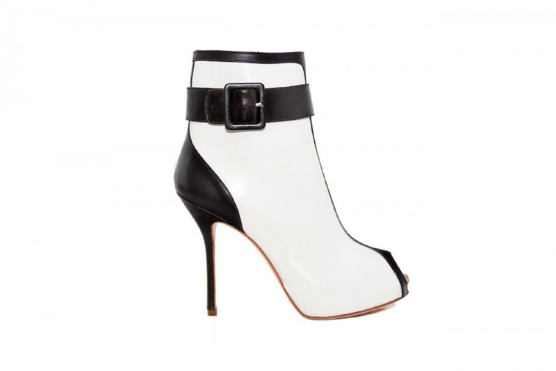Roberto Botticelli Ladies Elegant Calf Leather High Heels Shoes Black and White