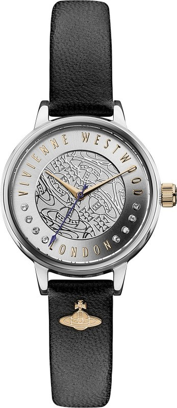 Vivienne Westwood Ladies Leather Watch VV114SLBK